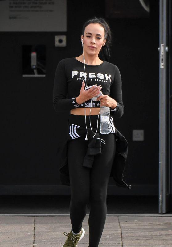 Stephanie Davis - Leaving Gym in Liverpool 03/30/2018