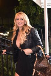 Stormy Daniels - Arrives at Solid Gold Strip Club in Pompano Beach