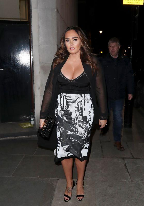 Tamara Ecclestone - Leaving a Restaurant at Mayfair in London