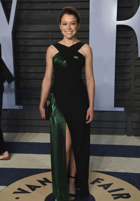 Tatiana Maslany – 2018 Vanity Fair Oscar Party in Beverly Hills