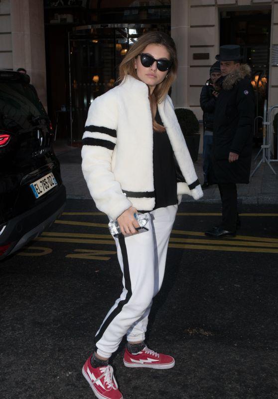Thylane Blondeau - Arrives at Royal Monceau Hotel in Paris 03/03/2018
