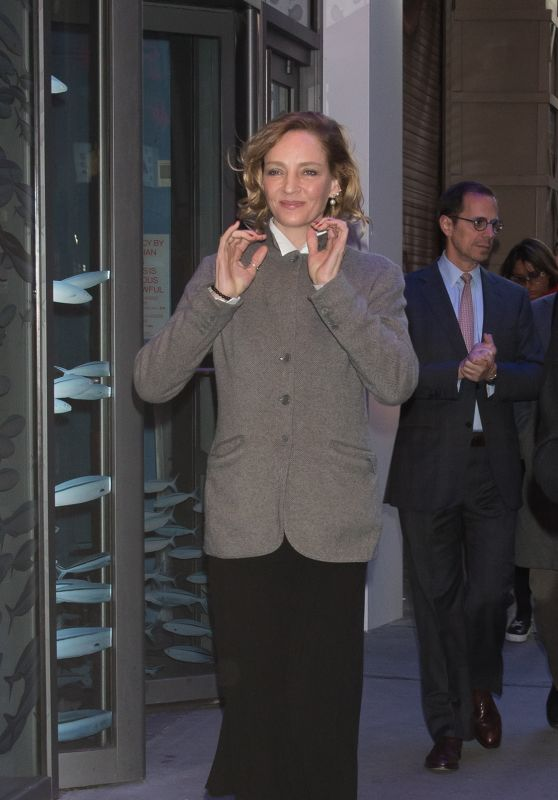 Uma Thurman - Out in New York 02/28/2018