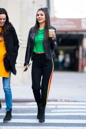 Victoria Justice in Alice + Olivia, Gramercy Park in NYC