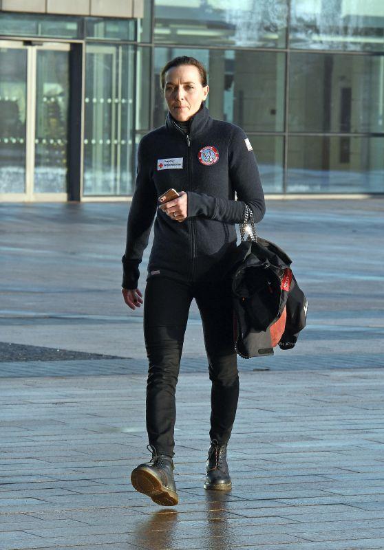 Victoria Pendleton - Arriving at BBC Breakfast Studio