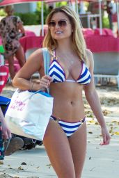 Zara Holland in Bikini on the Beach in Bridgetown 03/24/2018
