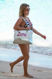 Zara Holland in Bikini on the Beach in Bridgetown 03/24/2018