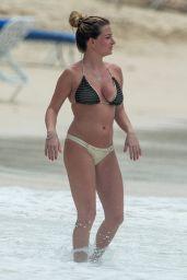 Zara Holland in Bikini - Playing on the Beach in Barbados 03/27/2018