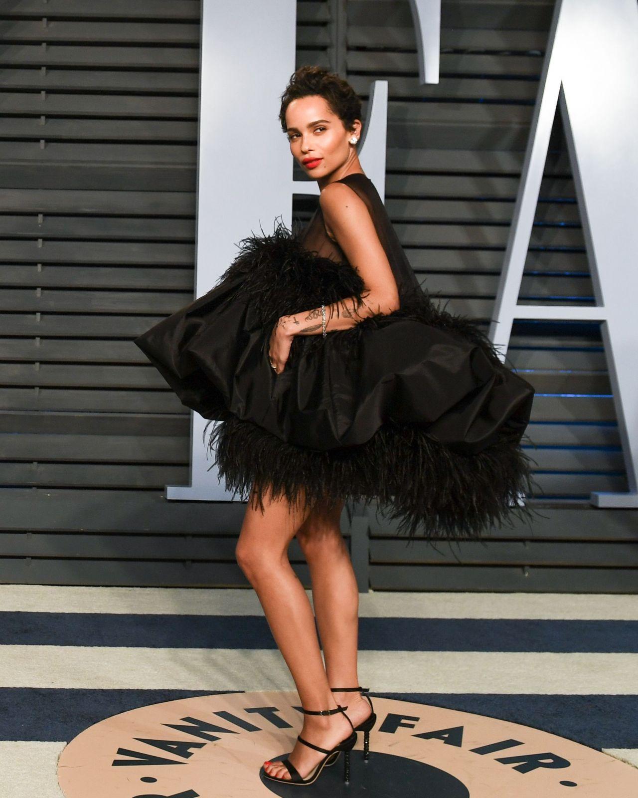 Zoe Kravitz Oscars Bra: 2018 Vanity Fair Oscar Party In Beverly Hills