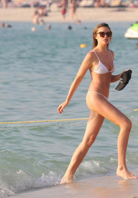 Abbey Clancy in Bikini - Le Royal Meridien Beach Resort in Dubai