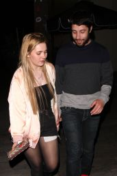 Abigail Breslin and Her Boyfriend - Delilah Restaurant in West Hollywood 04/15/2018