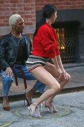 Adriana Lima - Photoshoot in NYC 04/20/2018