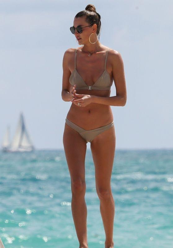 Alina Baikova in Bikini - Tanning With Friends in Miami 04/01/2018
