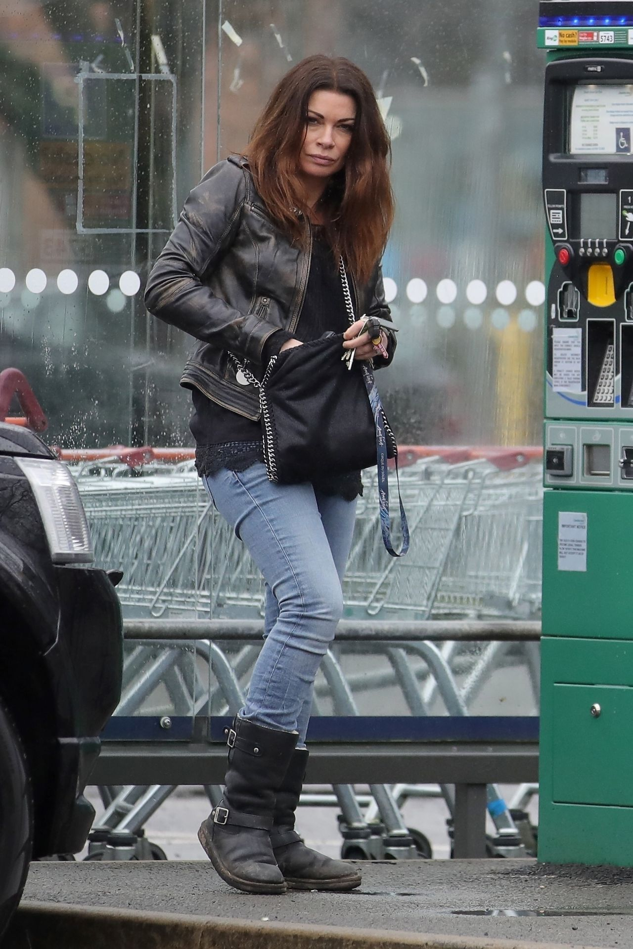 Alison King Urban Street Style Out In Wilmslow Cheshire