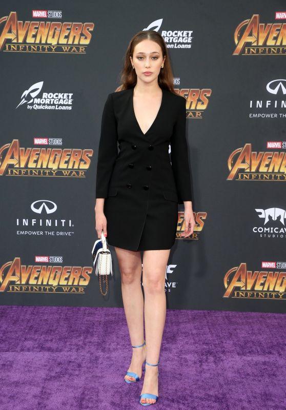"Alycia Debnam-Carey – ""Avengers: Infinity War"" Premiere in LA"