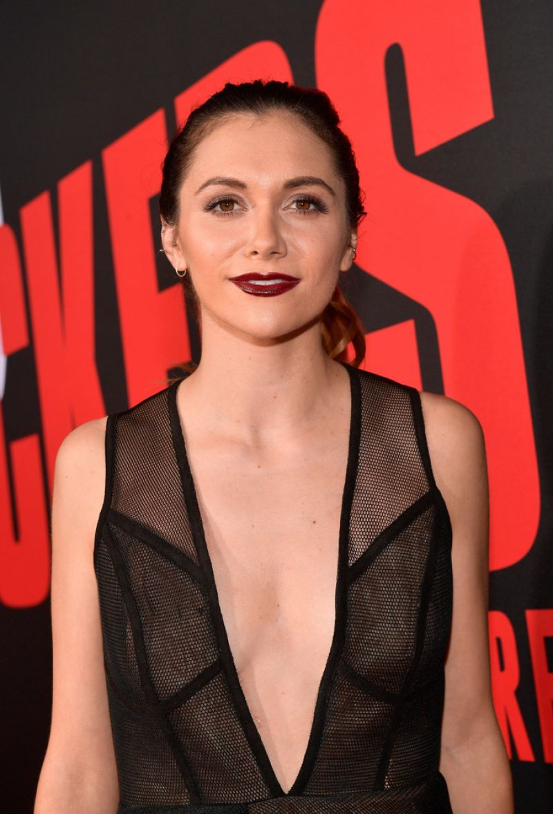 Alyson Stoner Blockers Premiere Westwood Lucy Boynton Bikini