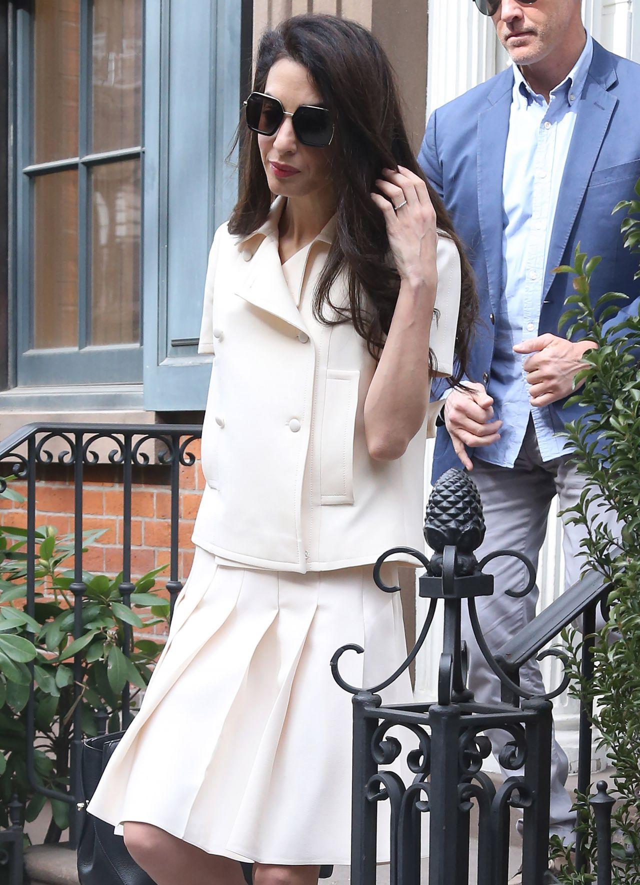 Amal Clooney Style - New York City 04/13/2018
