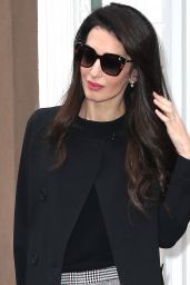 Amal Clooney Style - Out in New York City 04/12/2018