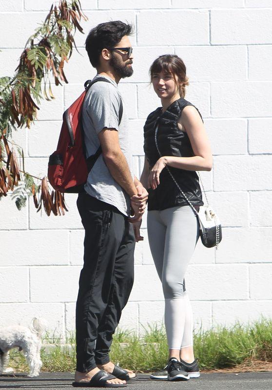 Ana De Armas and Her Boyfriend in Los Angeles 03/29/2018