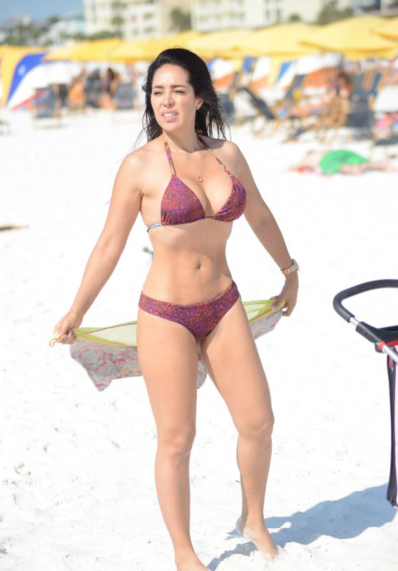 Andrea Calle in Bikini on the Beach in Miami 04/24/2018