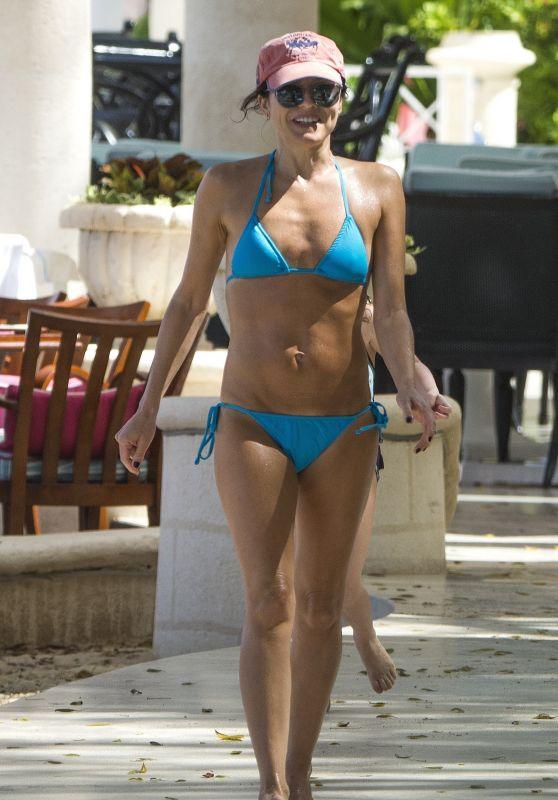 Andrea Corr in a Blue Bikini - Barbados 04/02/2018
