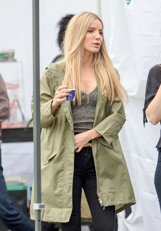 "Annabelle Wallis on the Set of ""Boss Level"" in Atlanta 04/15/2018"