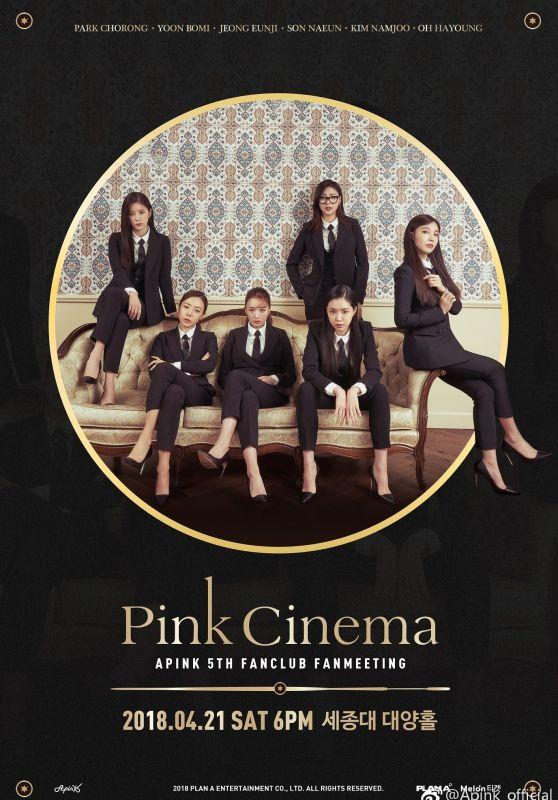 APink - PINK CINEMA Fanmeeting Poster 2018