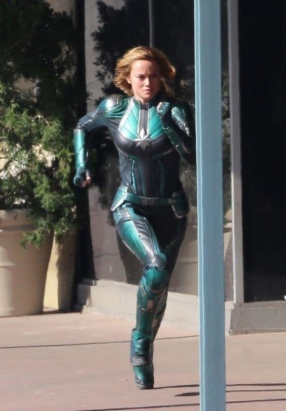 "Brie Larson - ""Captain Marvel"" Set in Los Angeles 04/26/2018"