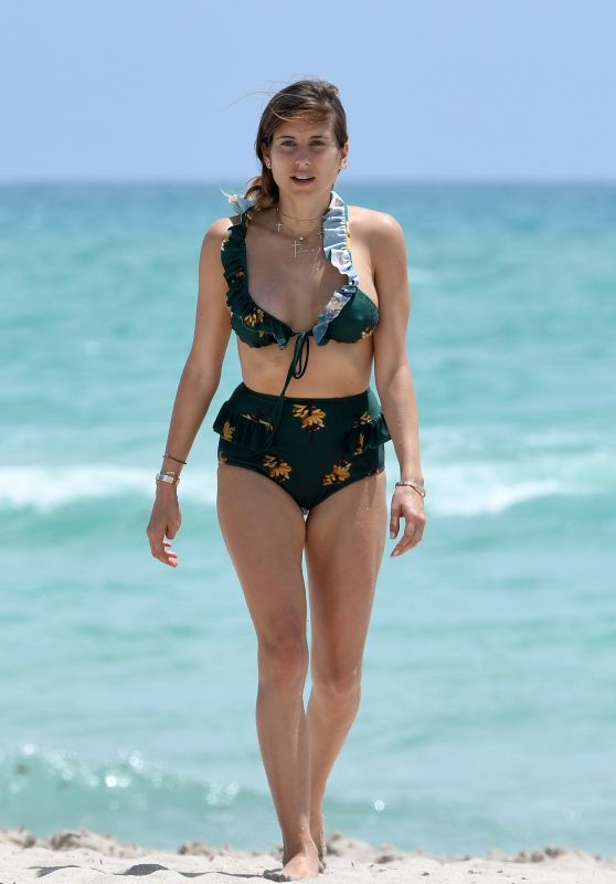 Cathy Fischer in a Green Bikini in Miami Beach 04/23/2018