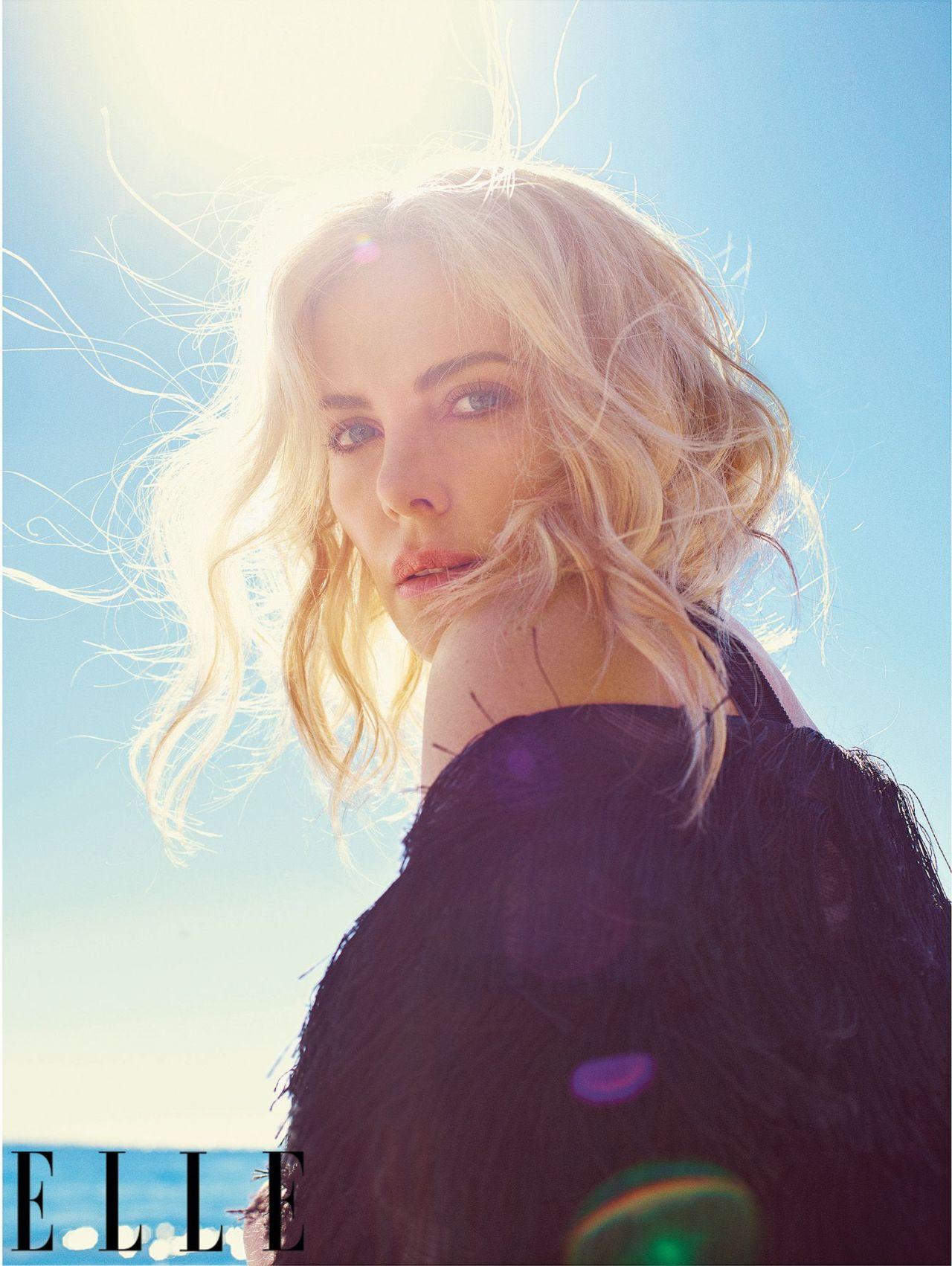Charlize Theron Elle Magazine Us May 2018