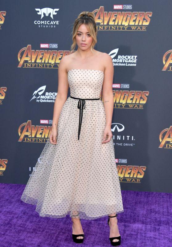 """Chloe Bennet – """"Avengers: Infinity War"""" Premiere in LA"""