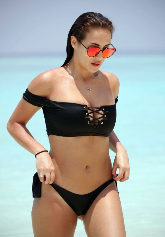 Chloe Goodman in Bikini on Beach in Dubai 04/03/2018
