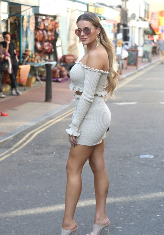 Chloe Meadows, Chloe Lewis, Amber Turner, Shelby Tribble, Clelia Theodorou, Georgia Kousoulou, Chloe Sims and Lauren Pope - TOWIE filming in Brighton 04/18/2018