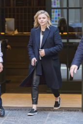 Chloe Moretz in Casual Outfit - Leaves Her Hotel in NYC 04/20/2018