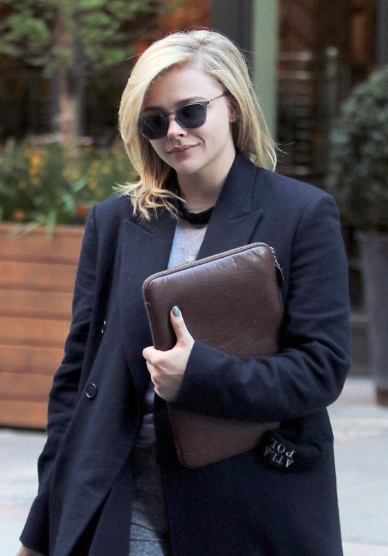 Chloe Moretz - Leaves a Downtown Hotel in NYC 04/23/2018