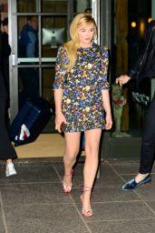 Chloe Moretz Leggy in Mini Dress - NYC 04/22/2018