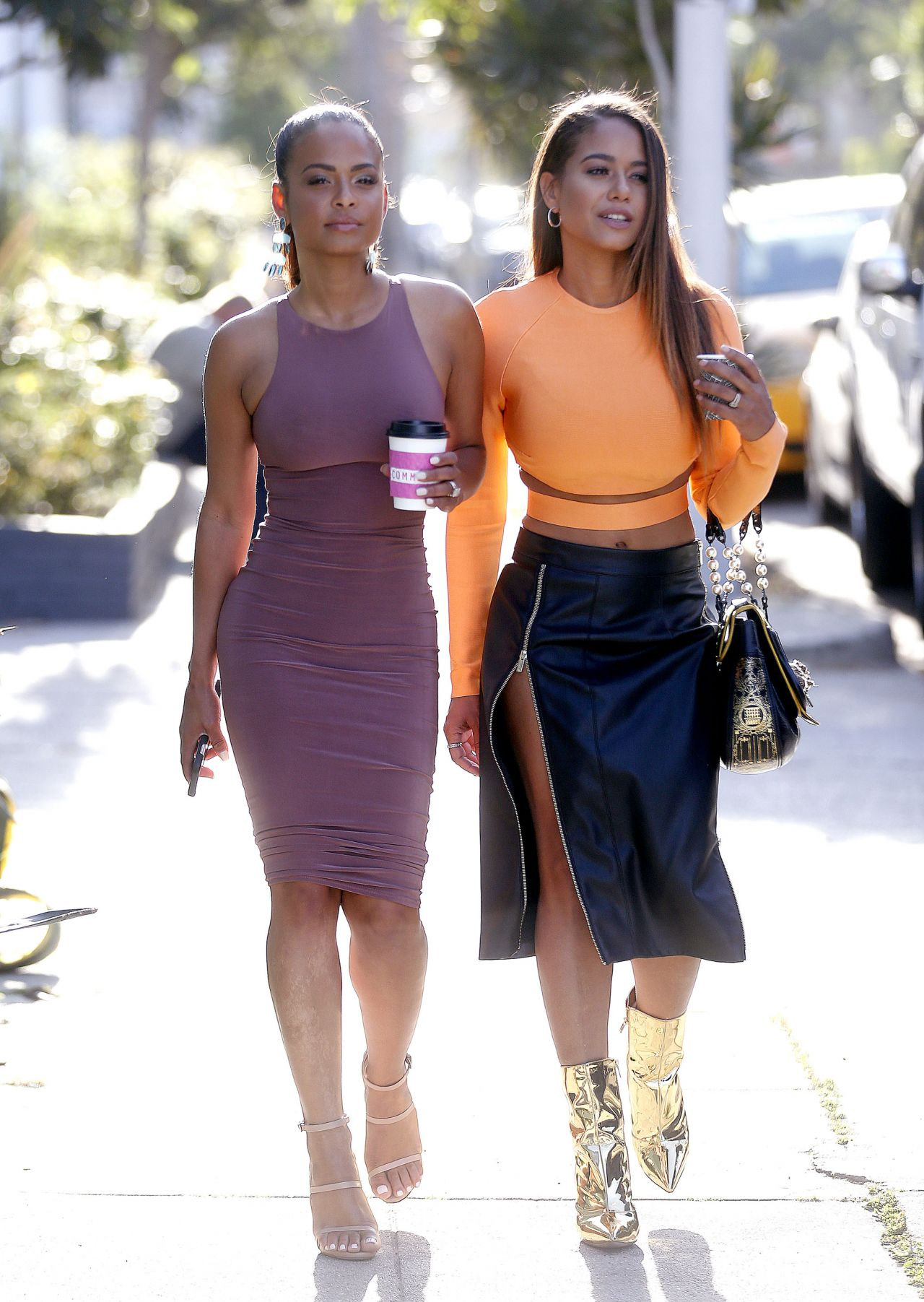 Christina Milian - With Her Sister Out in West Hollywood ...