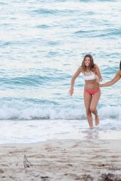 Claudia Romani and Ana G on the Beach in Miami 04/22/2018