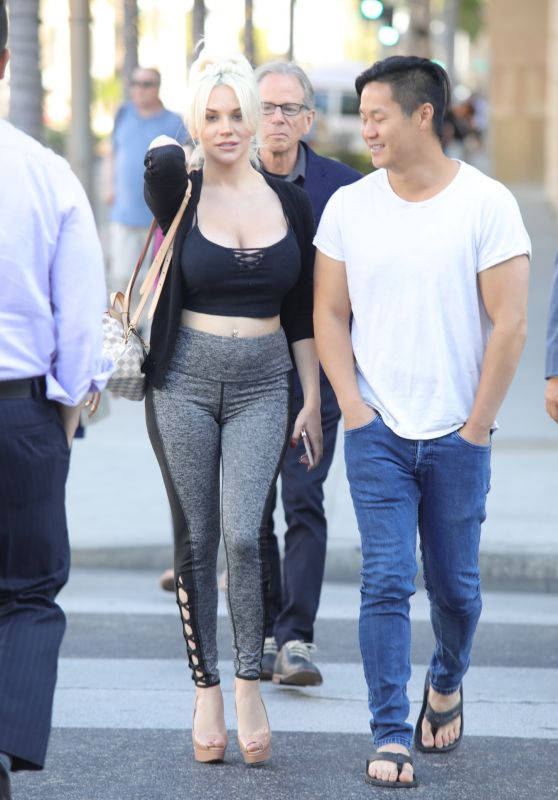 Courtney Stodden - With Her Boyfriend in Beverly Hills 04/25/2018