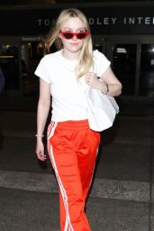 Dakota Fanning at LAX Airport 04/20/2018