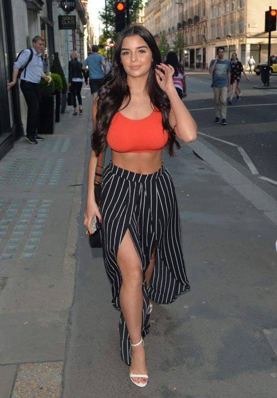 Demi Rose - Leaving Inanch Hair Salon in London 04/23/2018
