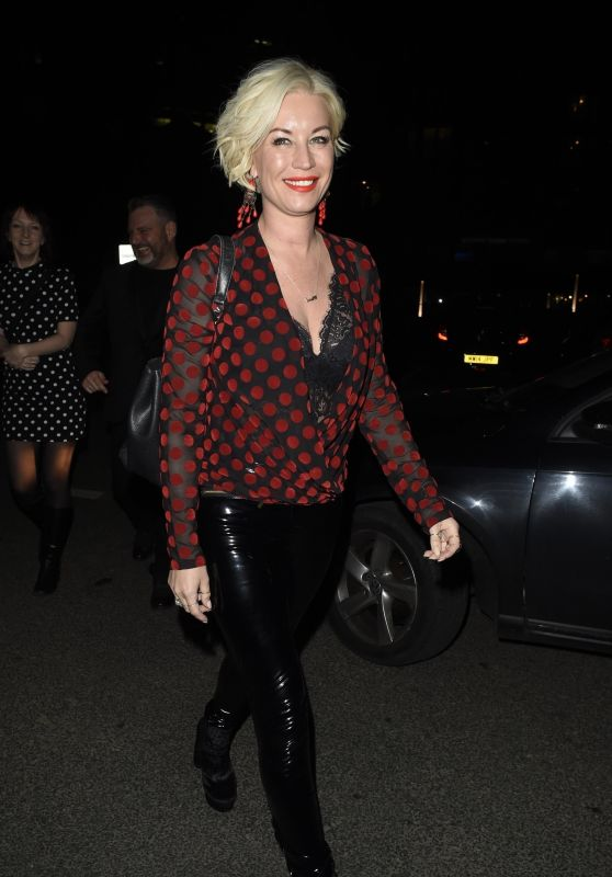 Denise Van Outen Night Out at Menagerie in Manchester