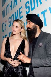 Dianna Agron - Free Arts NYC Honors Legendary Conceptual Artist Lawrence Weiner in NYC