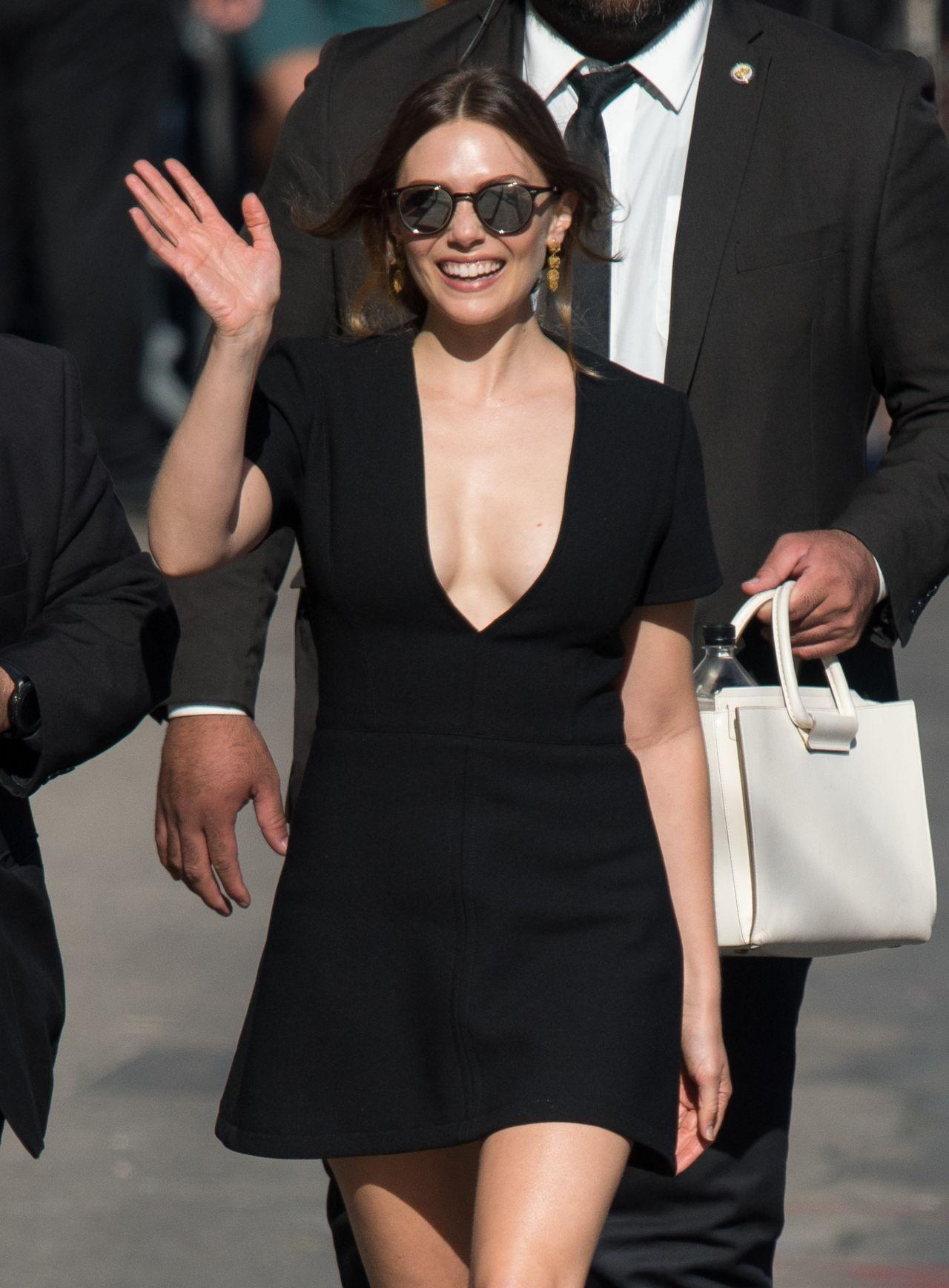 Elizabeth Olsen Arriving To Appear On Jimmy Kimmel Live