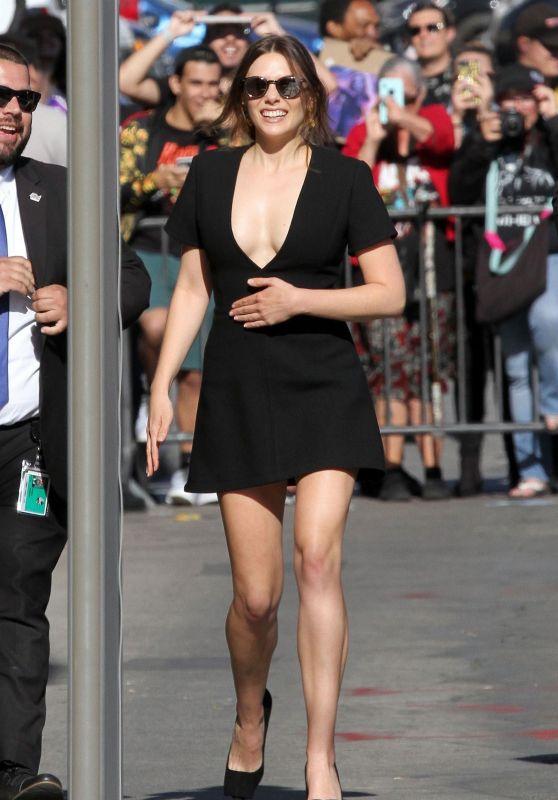 Elizabeth Olsen - Arriving to Appear on Jimmy Kimmel Live in Hollywood 04/26/2018