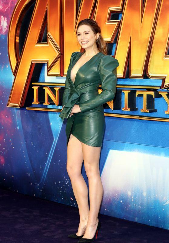 """Elizabeth Olsen - """"Avengers: Infinity War"""" Fan Screening in London"""