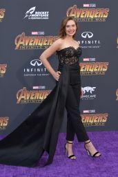 """Elizabeth Olsen – """"Avengers: Infinity War"""" Premiere in LA"""