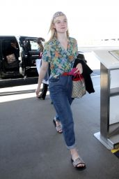 Elle Fanning - LAX Airport in Los Angeles 04/20/2018