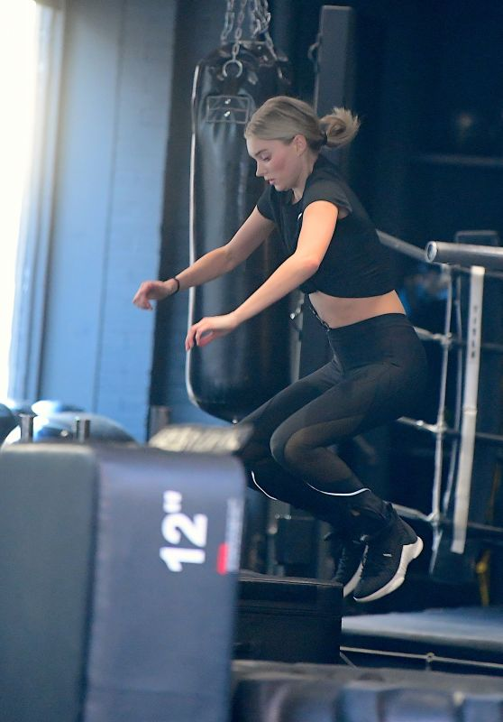 Elsa Hosk Candids - At the Gym in NYC 04/12/2018