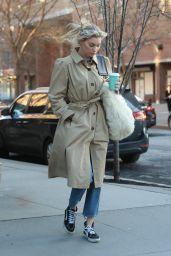 Elsa Hosk Street Fashion - Tribeca in New York 04/04/2018