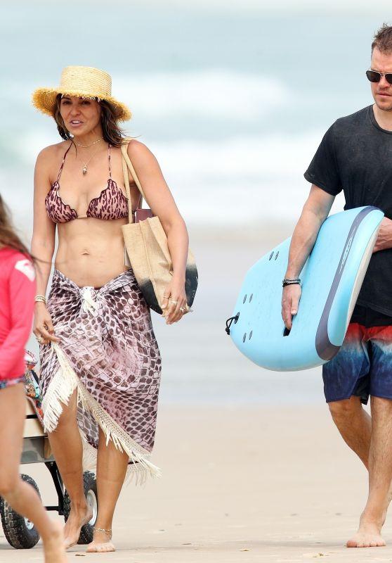 Elsa Pataky and Luciana Barroso at the Beach in Byron Bay, Australia